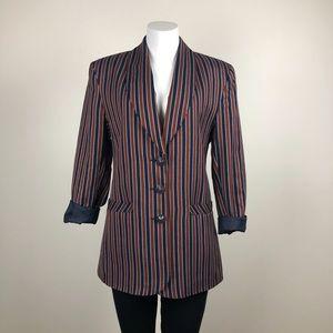 Vintage Striped Italian Blazer
